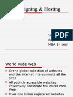 Web Designing and Hosting Presentation Ppt