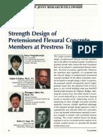Strength Design of Pretensioned Flexural Concrete