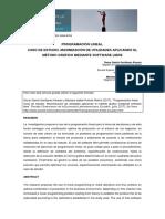 Programación Lineal. Caso de Estudio. Maximización de Utilidades Aplicando El Método Gráfico Mediante Software Libre