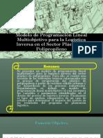 5.Paper_PL_Multiobjetivo Para La Logística