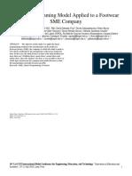 Modelo de Programación Lineal Aplicado a Una Empresa Pyme de Calzado