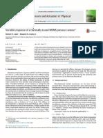 Variable Response of a Thermally Tuned MEMS Pressure Sensor _ Elsevier Enhanced Reader