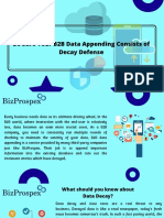 Be Sure Your B2B Data Appending Consists of Decay Defense