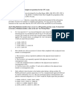 Sample Test Questions for the CPC Exam