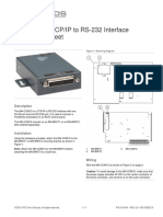3101601 R2.0 MN-COM1S TCPIP to RS232 Interface Installation Sheet