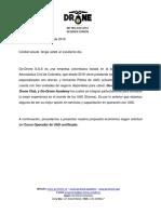 Información Curso de Operador UAS Certificado