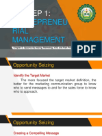 ENTREP 1 Chapter 5 Opportunity Seizing