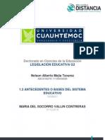 Antecedentes o Bases Del Sistema Educativo_mejia_nelson
