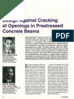 Openings in Prestressed Beams