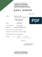 Travel Order 2