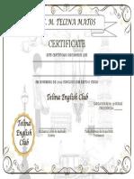 Certificate 36 h