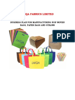 Laiqa Fabrics Ltd. Business Plan
