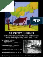 Plakat Malerei trifft Fotografie 2010