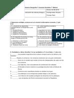 Evaluación Historia Geografía Y Ciencias Sociales 7