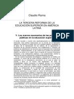 LA TERCERA REFORMA DE LA EDUCACIÓN SUPERIOR EN AMÉRICA LATINA