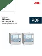 1MRK514027-UEN D en Installation Manual 650 Series Version 2.2