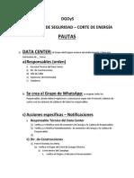 Protocolo Emergencia - Corte de Energía