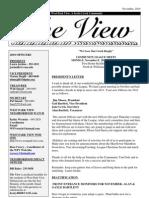 November 2010 West Park View Community League newsletter