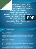Perfil de Tesis Interaccion Suelo Estructura