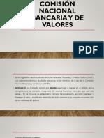 Comisión Nacional Bancaria y de Valores Tema