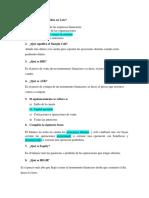 Cuestionario Mercado de Divisas