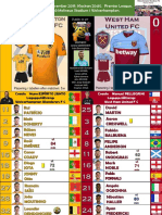 Premier League week 15 191204 20.30 Wolverhampton - West Ham 2-0