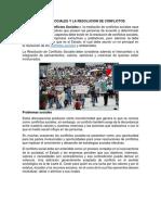 Actores Sociales y La Resolucion de Conflictos