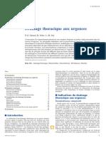 Drainage Thoracique Aux Urgences