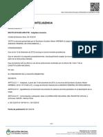 Decreto 822/2019