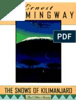 Ernest Hemingway - As Neves Do Kilimanjaro