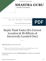 5 Key Septic Tank Vastu Do's [Plus 4 Don'Ts]