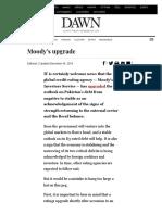 Moody's Upgrade - Newspaper - DAWN