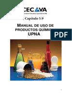 Capitulo 5.9 Manual de Uso de Productos Quimicos
