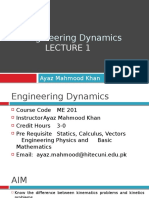 Engineering Dynamics Lecture 1