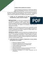 Informe Análisis de La Empresa