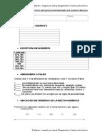 PRUEBA DE DIAGNOSTICO DE EDUCACION MATEMATICA CUARTO BASICO.doc
