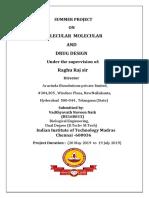 Be16b033 Internship Report Molecular Modeling & Drug Design