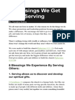8 Blessings We Get From Serving