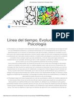 Línea Del Tiempo. Evolución de La Psicología _ Sutori