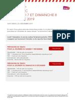 Prévisions SNCF des 7-8 décembre