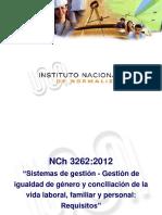 NCh 3262_2012. Sistemas de Gestión - Gestión de Igualdad de Género y Conciliación de La Vida Laboral, Familiar y Personal_ Requisitos (1)