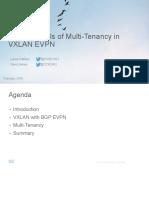 EVPN VXLAN Multi Tenancy David&Lukas