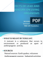 Toxic Effects of Lead and Mercury on Living(1)m