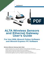 Mug33 Alta Egw 868 Mhz Users Guide