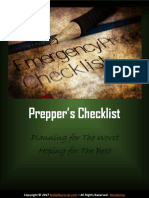 Bug in Preppers Checklist
