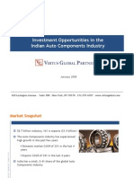Indian Auto Components Investment Opportunities