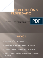 01. Sonido - Definición y Propiedades