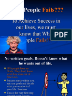 Why People Fails
