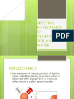 Spectral Reflectance of Vegetation, Soil and Water