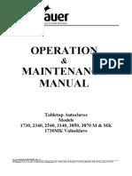 Tuttnauer M, MK-Series Autoclave - User and maintenance manual.pdf